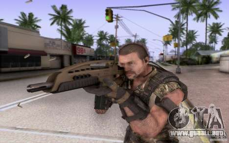 HK XM8 eotech para GTA San Andreas tercera pantalla