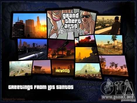 Pantalla de arranque hermosa para GTA San Andreas segunda pantalla