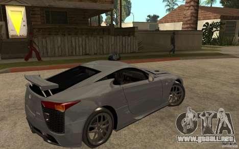 Lexus LFA 2010 para la visión correcta GTA San Andreas