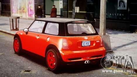 Mini Cooper S 2003 v1.2 para GTA 4 Vista posterior izquierda