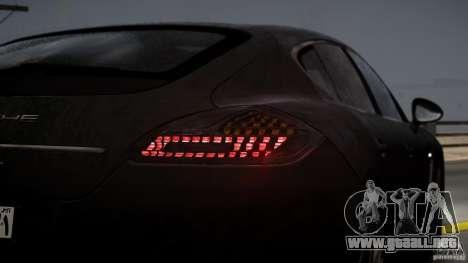 Porsche Panamera Turbo 2010 Black Edition para GTA 4 vista superior