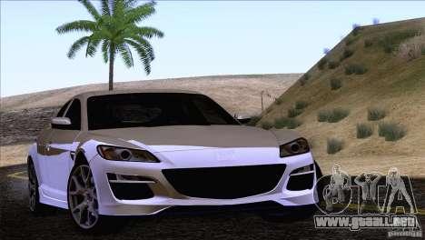 Mazda RX8 R3 2011 para GTA San Andreas vista hacia atrás