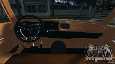 Dodge Monaco 1974 Taxi v1.0 para GTA 4 vista hacia atrás