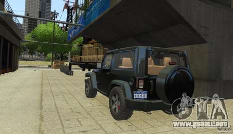 Jeep Wrangler Rubicon 2012 para GTA 4 left