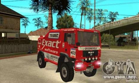 MAN TGA Rally OFFROAD para visión interna GTA San Andreas