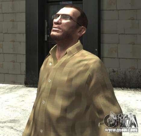 Nuevas gafas para Niko-brillante para GTA 4 segundos de pantalla