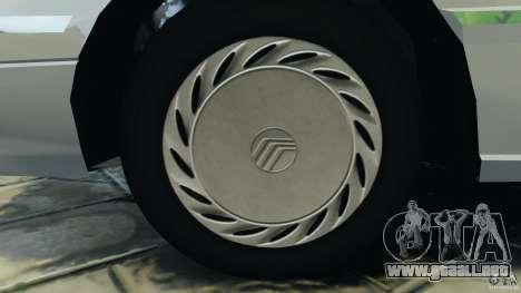 Mercury Tracer 1993 v1.1 para GTA 4 vista hacia atrás