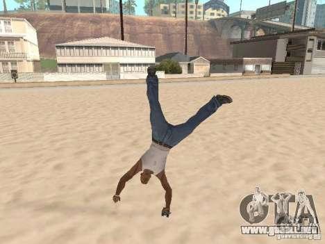Parkour 40 mod para GTA San Andreas sucesivamente de pantalla
