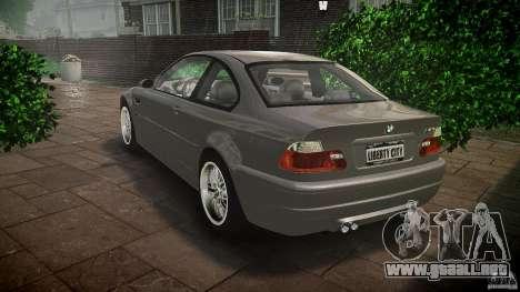 BMW M3 e46 v1.1 para GTA 4 Vista posterior izquierda