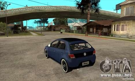 Volkswagen Gol Vintage para GTA San Andreas vista posterior izquierda
