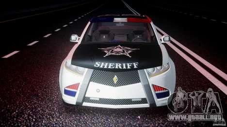 Carbon Motors E7 Concept Interceptor Sherif ELS para GTA 4 interior