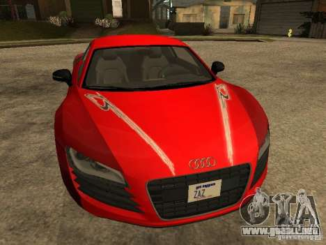 Audi R8 para vista inferior GTA San Andreas