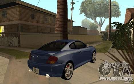 Hyundai Tiburon Jc2 para la visión correcta GTA San Andreas