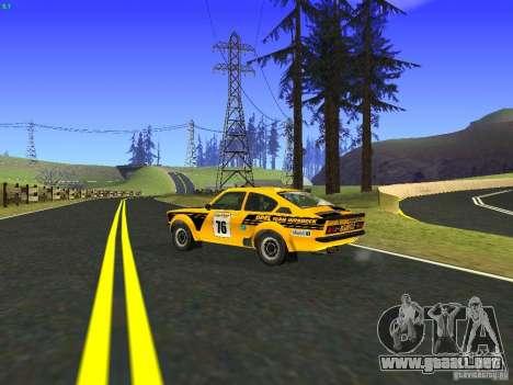 Opel Kadett para visión interna GTA San Andreas