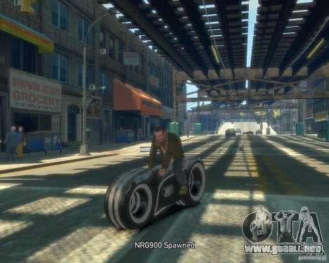 Motocicleta del trono (neón gris) para GTA 4 vista hacia atrás