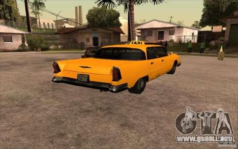 Oceanic Cab para GTA San Andreas vista posterior izquierda