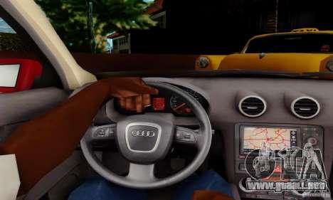 Audi A3 Sportback 3.2 Quattro para la visión correcta GTA San Andreas
