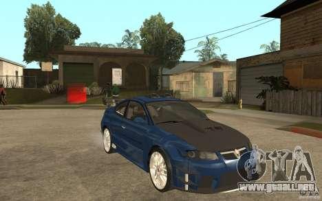 Vauxhall Monaro para GTA San Andreas vista hacia atrás