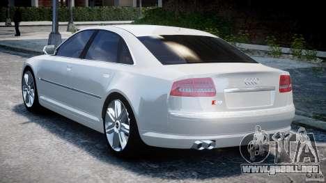Audi S8 D3 2009 para GTA 4 Vista posterior izquierda