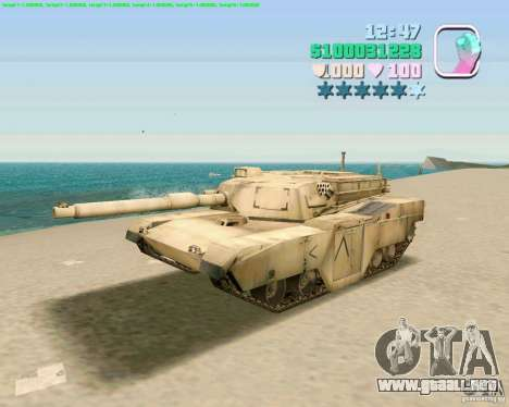 M 1 A2 Abrams para GTA San Andreas left