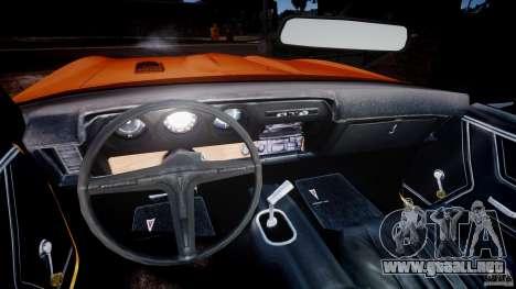 Pontiac GTO Judge para GTA 4 vista hacia atrás