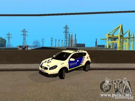 Nissan Qashqai Espaqna Police para GTA San Andreas left