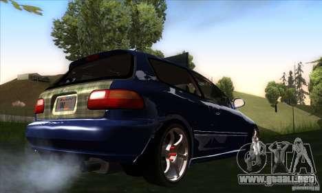 Honda Civic EG5 para la visión correcta GTA San Andreas