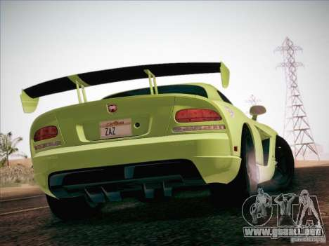 Dodge Viper SRT-10 ACR para vista inferior GTA San Andreas