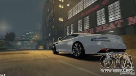 Aston Martin Virage 2012 v1.0 para GTA 4 Vista posterior izquierda