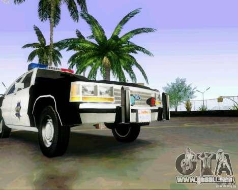 Ford Crown Victoria LTD 1991 SFPD para visión interna GTA San Andreas