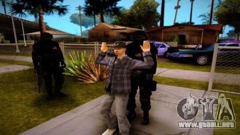 S.W.A.T. para GTA San Andreas sucesivamente de pantalla