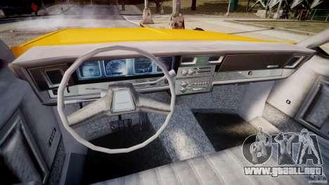 Chevrolet Impala Taxi v2.0 para GTA 4 vista hacia atrás