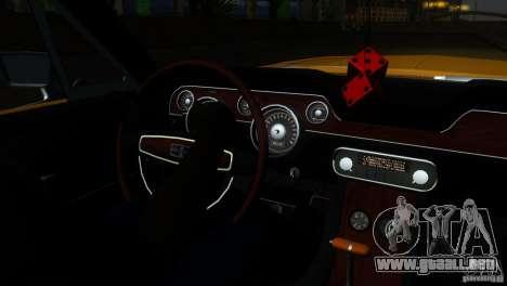 Shelby GT500KR para GTA San Andreas interior