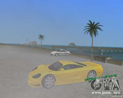 Saleen S7 para GTA Vice City visión correcta