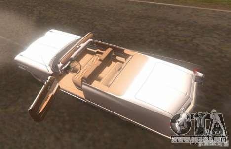Cadillac Series 62 1960 para GTA San Andreas vista hacia atrás