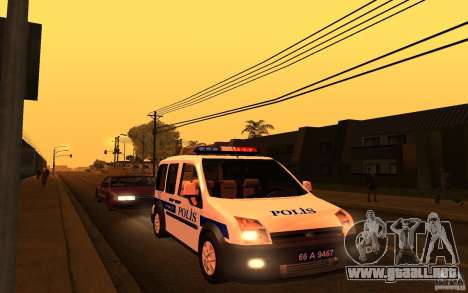 Ford Transit Connect Turkish Police para GTA San Andreas left