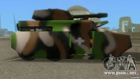 Bundeswehr-Panzer para GTA San Andreas vista posterior izquierda