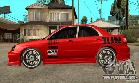 Subaru Impreza 2005 Tuned para GTA San Andreas left