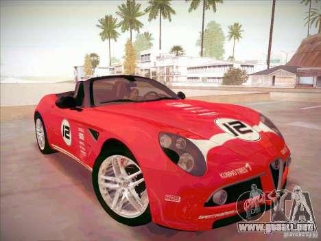 Alfa Romeo 8C Spider para GTA San Andreas vista hacia atrás