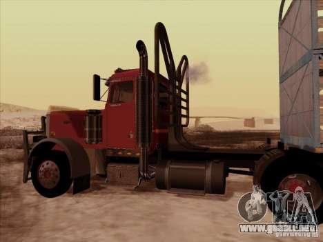 Peterbilt 359 Day Cab para visión interna GTA San Andreas