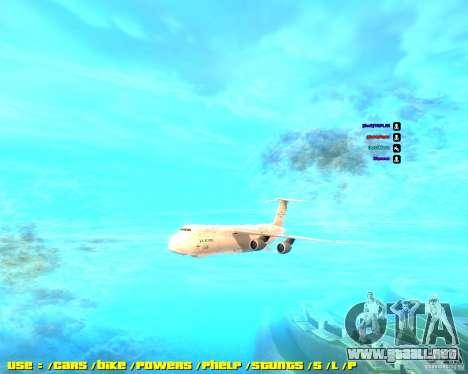 Lockheed C5-M Super Galaxy para GTA San Andreas