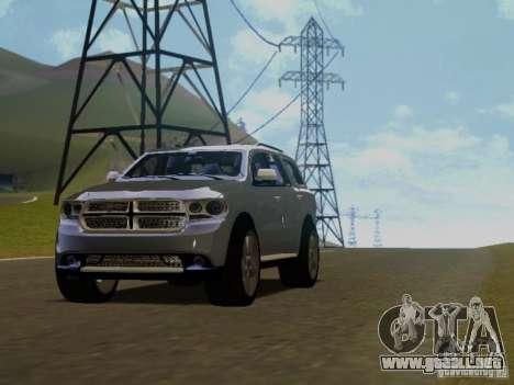 Dodge Durango 2012 para GTA San Andreas vista hacia atrás