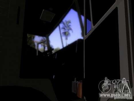 Camión KAMAZ 53212 leche para visión interna GTA San Andreas