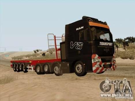 Remolque MAN TGX 8 x 4 para la visión correcta GTA San Andreas