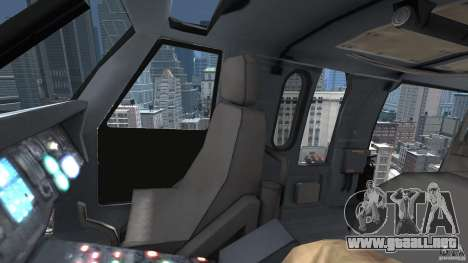 Sikorsky UH-60 Black Hawk para GTA 4 vista lateral