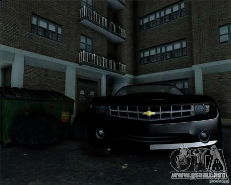 Chevrolet Camaro 2007 para visión interna GTA San Andreas