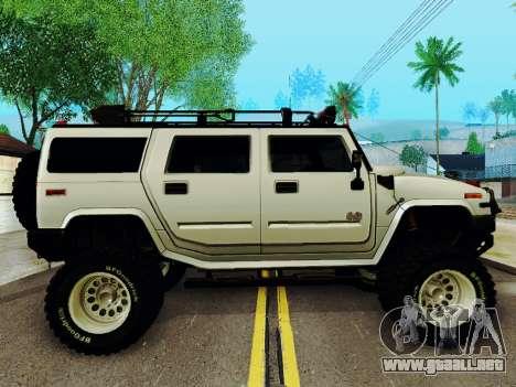 Hummer H2 Monster 4x4 para GTA San Andreas vista posterior izquierda