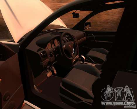 Porsche Cayenne Turbo S para visión interna GTA San Andreas
