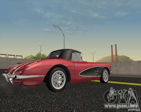 Chevrolet Corvette 1959 para la visión correcta GTA San Andreas