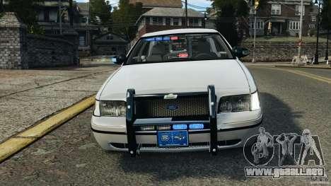 Ford Crown Victoria Police Unit [ELS] para GTA 4 vista superior